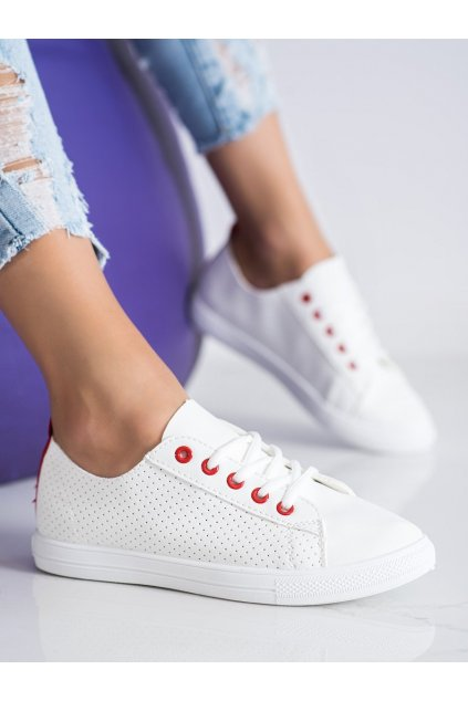 Biele dámske tenisky Trendi kod LA43R