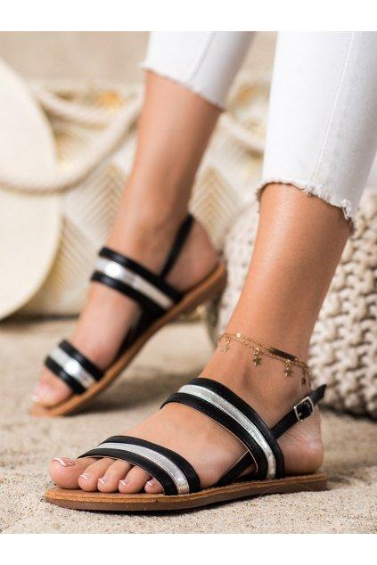 Čierne dámske sandále Cm paris kod 8839-42B