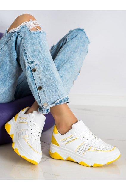 Biele dámske tenisky Trendi kod 6306Y