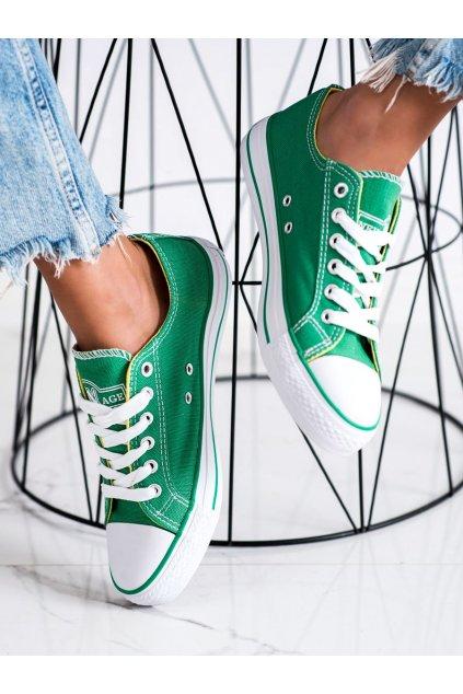 Zelené dámske tenisky New age kod 083GR
