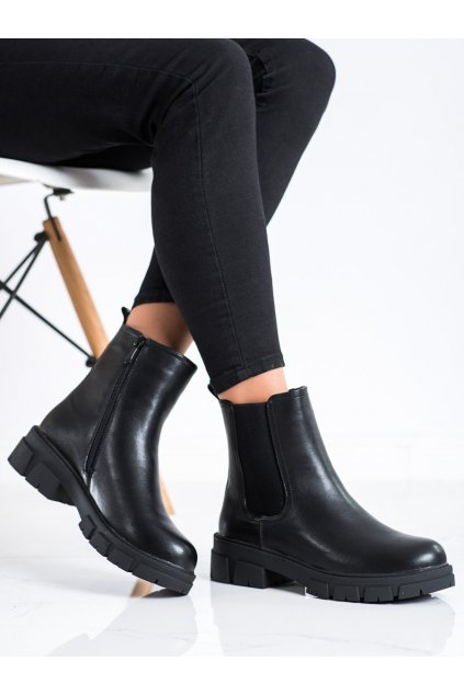 Čierne dámske topánky S. barski kod 223-87B