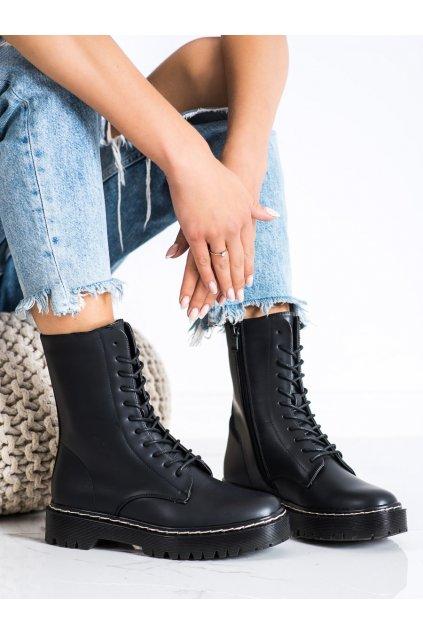 Čierne dámske topánky S. barski kod 201-67B