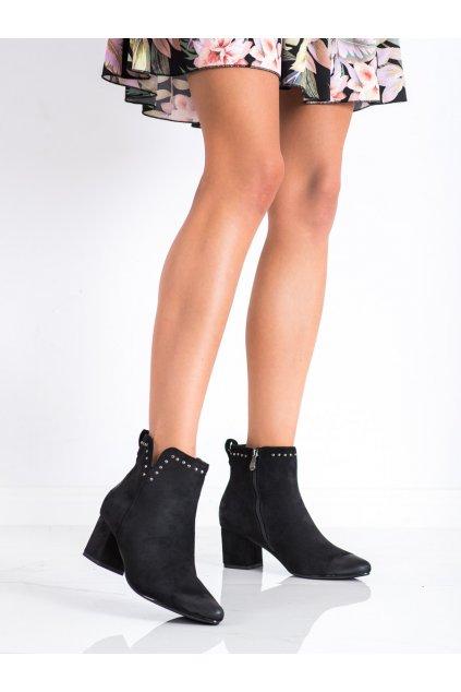 Čierne dámske topánky Vinceza kod XY22-10626B