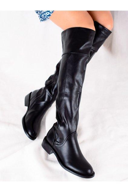 Čierne dámske čižmy Goodin kod GD-FL3018B