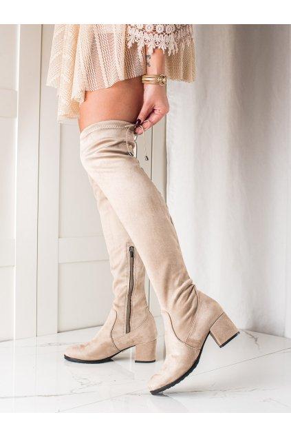 Hnedé dámske čižmy Trendi kod 21-57001BE