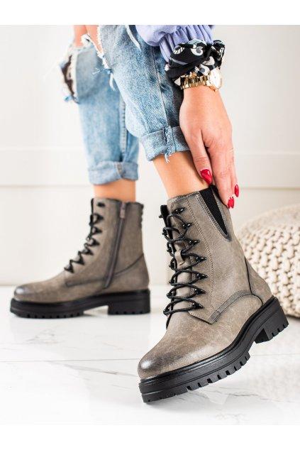 Sivé dámske topánky Sergio leone kod TR756G
