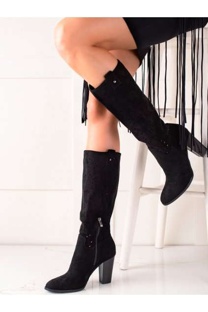 Čierne dámske čižmy Trendi kod RT89956B