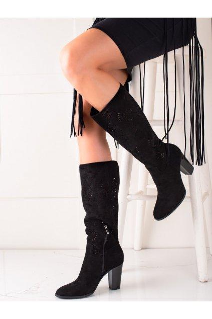 Čierne dámske čižmy Trendi kod RT89957B