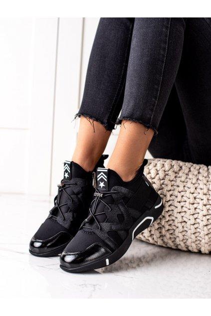Čierne dámske tenisky Vinceza kod XY22-10680B