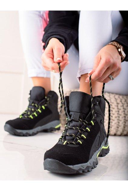 Čierne dámske trekové topánky Mckeylor kod FT22-8715B/GR