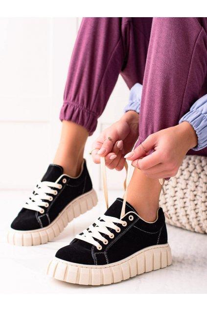 Čierne dámske tenisky Sweet shoes kod SX201B