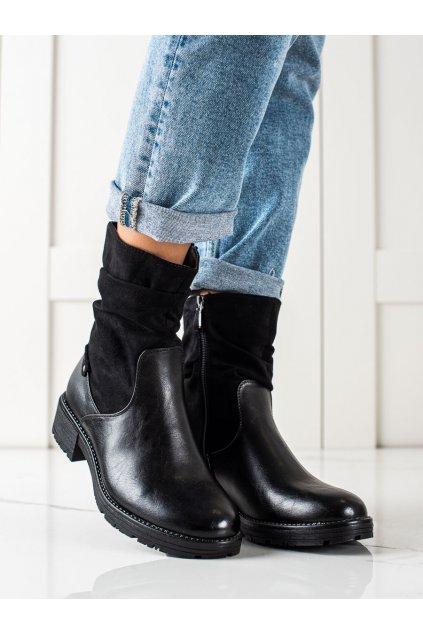 Čierne dámske topánky W. potocki kod 21-12018B