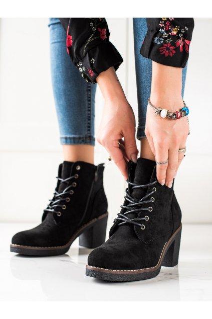 Čierne dámske topánky Trendi kod VRO-159B