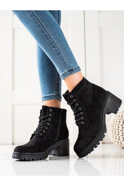 Čierne dámske topánky Trendi kod VRO-167B