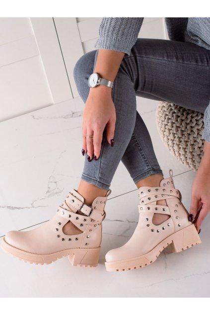 Hnedé dámske topánky Bestelle kod RQ358BE
