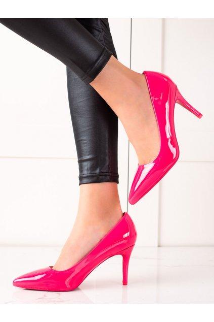 Ružové dámske lodičky Best shoes kod AXY-3A17F