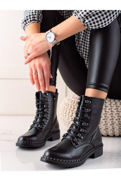 Čierne dámske topánky Super me kod XJ-53B