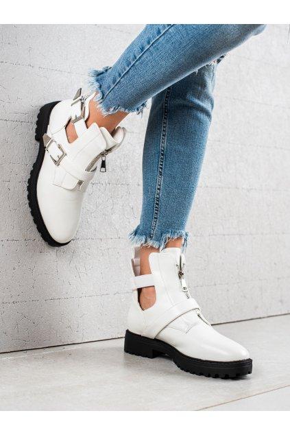 Biele dámske topánky Bestelle kod 16047-30W