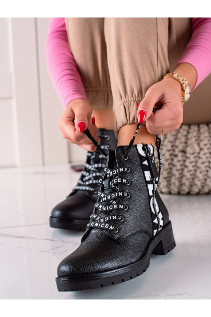 Čierne dámske topánky W. potocki kod RE21-11025B