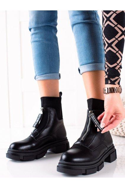 Čierne dámske topánky Bestelle kod 168-321B
