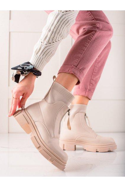 Hnedé dámske topánky Bestelle kod 168-321BE