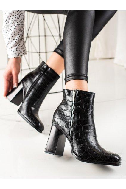 Čierne dámske topánky Bestelle kod HB-30B