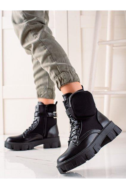Čierne dámske topánky Best shoes kod MW8S4-1B