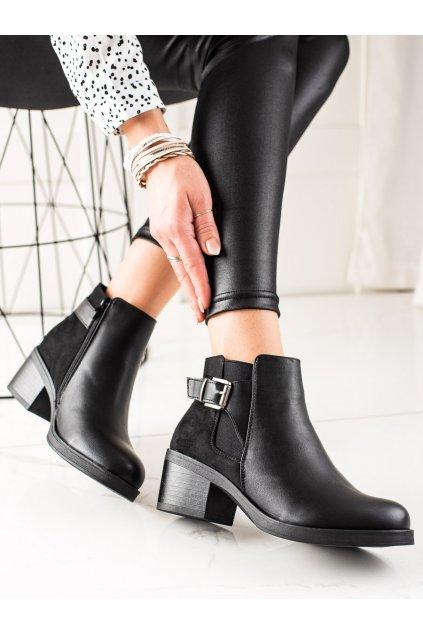 Čierne dámske topánky Anesia paris kod BO-286B