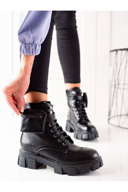 Čierne dámske topánky Doli-berry kod 6018-6B