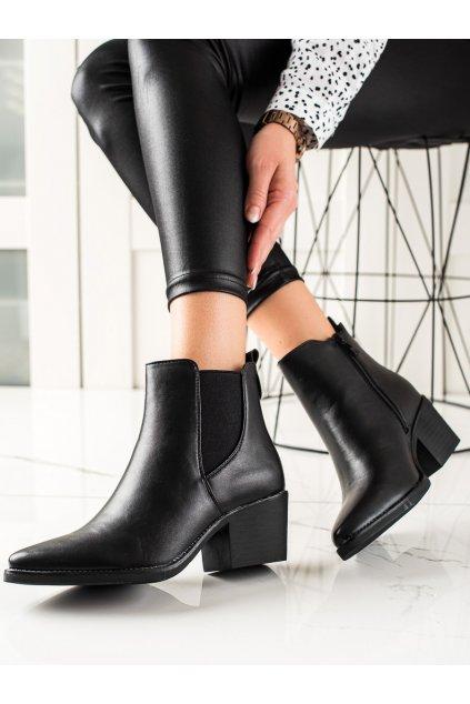Čierne dámske topánky Melisa kod HQ1363B