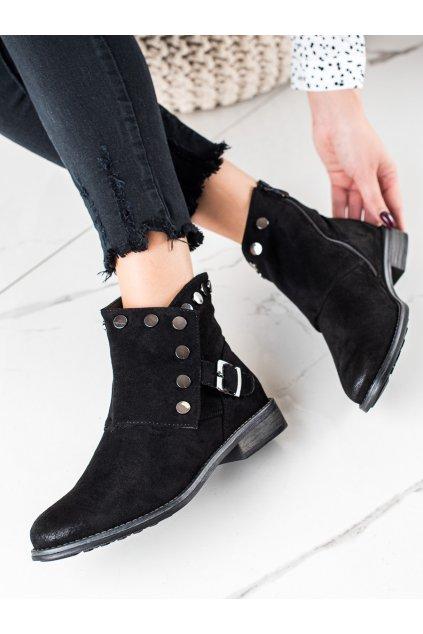 Čierne dámske topánky W. potocki kod RE21-11005B