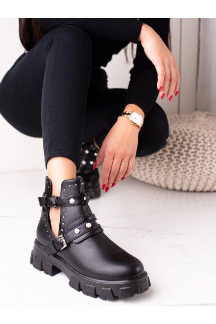 Čierne dámske topánky Bestelle kod 20211-51B