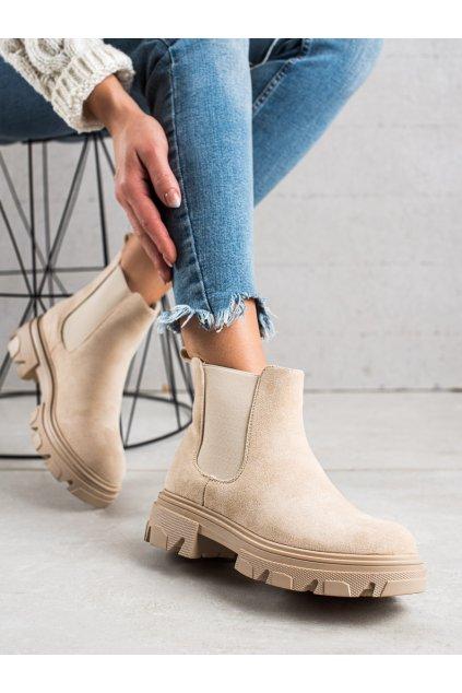 Hnedé dámske topánky Trendi kod F10BE