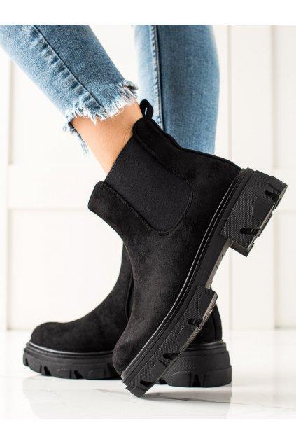 Čierne dámske topánky Trendi kod F10B