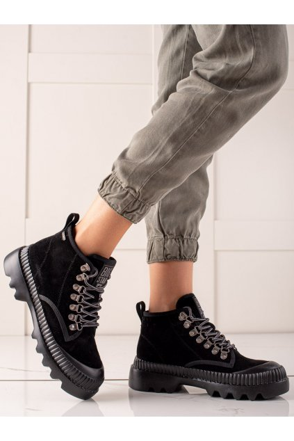 Čierne dámske topánky Big star kod II274363 906B