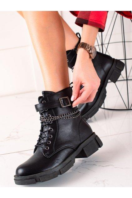 Čierne dámske topánky Goodin kod GD-XR-608B