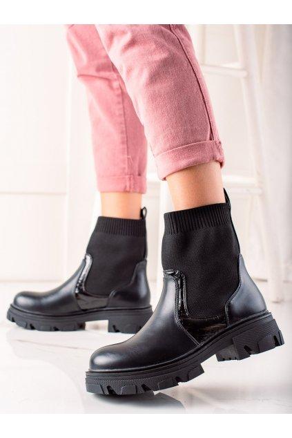 Čierne dámske topánky Trendi kod HQ251B