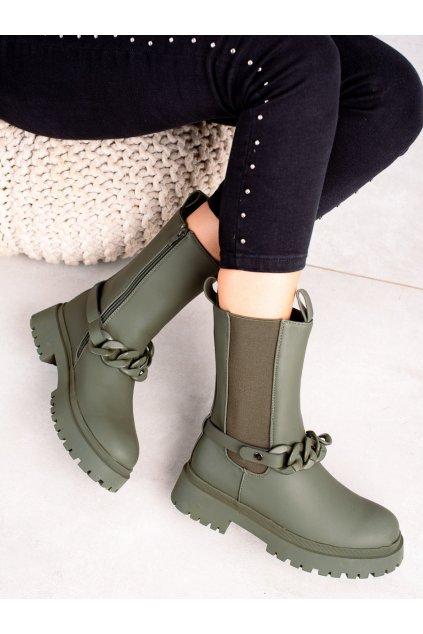 Zelené dámske topánky Trendi kod VR109GR