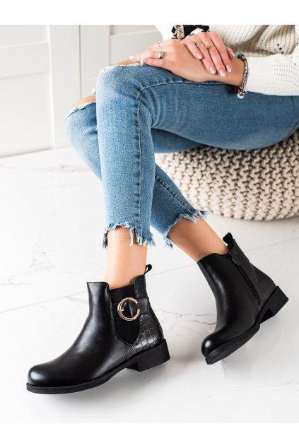Čierne dámske topánky Trendi kod HQ228B