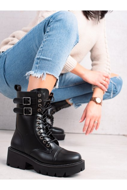 Čierne dámske topánky Big star kod II274113B