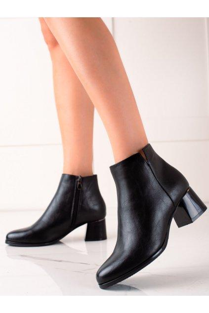 Čierne dámske topánky W. potocki kod 21-12006B