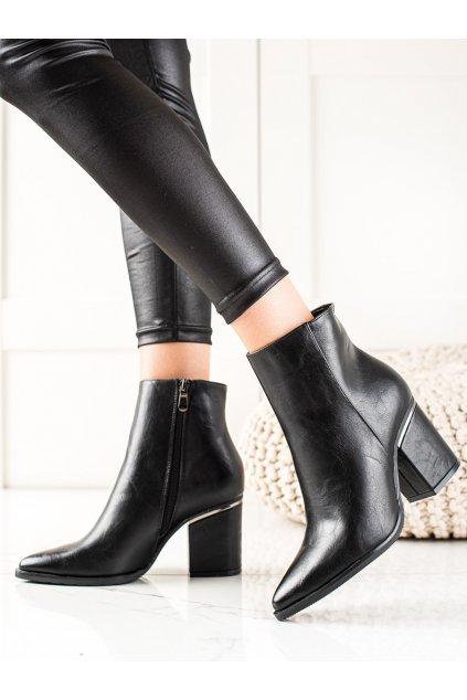 Čierne dámske topánky W. potocki kod 21-12044B