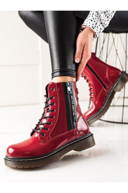 Červené dámske topánky W. potocki kod 21-18003R