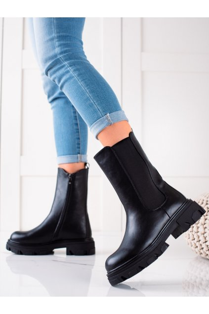 Čierne dámske topánky W. potocki kod 21-18001B