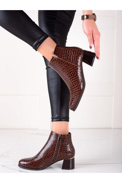 Hnedé dámske topánky W. potocki kod 21-12023BR