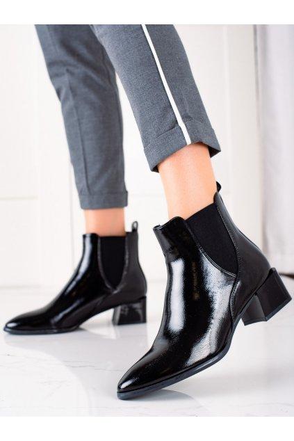 Čierne dámske topánky Sergio leone kod BT219B/B