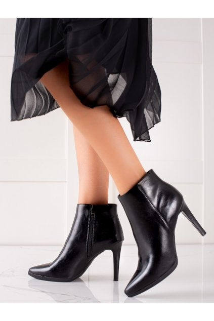 Čierne dámske topánky Sergio leone kod BT501B
