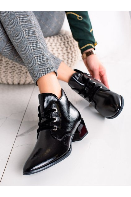 Čierne dámske topánky Sergio leone kod BT220B/B