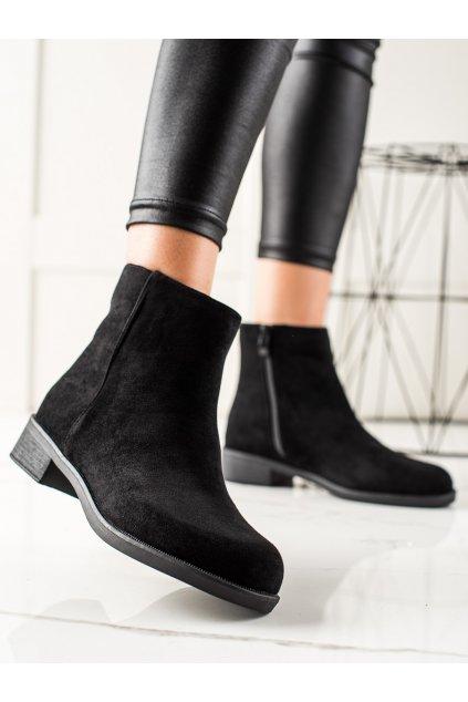 Čierne dámske topánky Ideal shoes kod 2627B