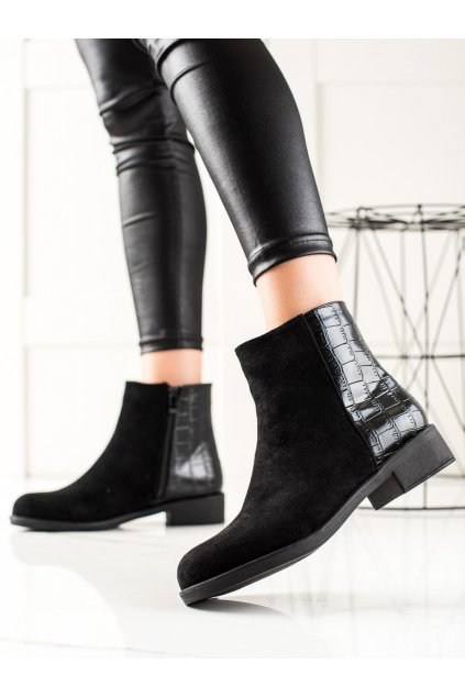 Čierne dámske topánky Trendi kod D0104B